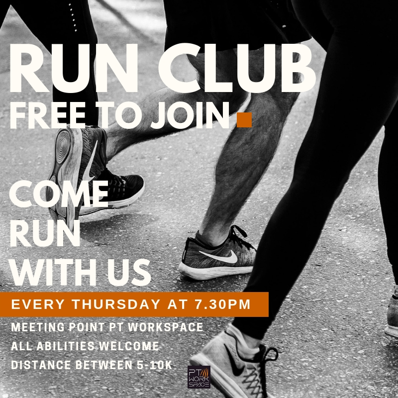 Run Club With PT Workspace Join FREE
