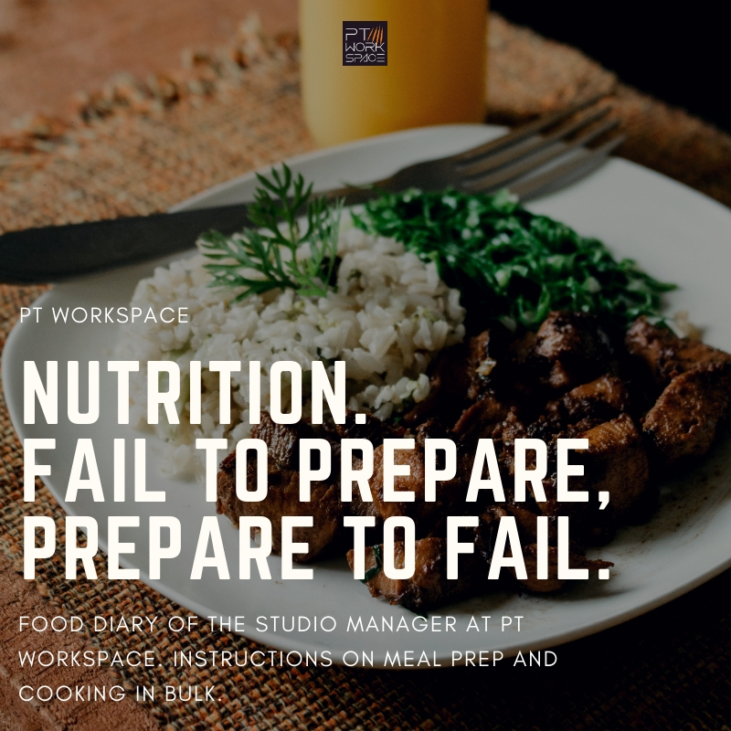Nutrition… Fail to Prepare, Prepare to Fail.