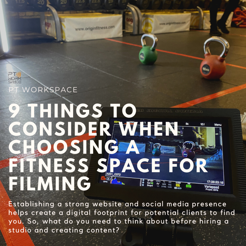 9 Things to Consider When Choosing a Fitness Space for Filming